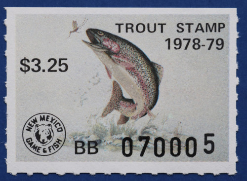 1978 New Mexico Trout Stamp (NMT17)