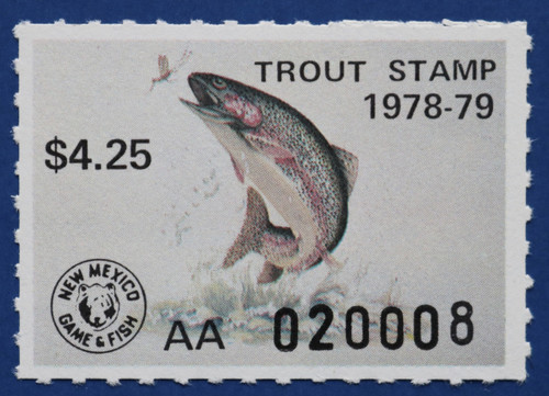 1978 New Mexico Trout Stamp (NMT18)