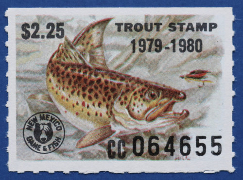 1979 New Mexico Trout Stamp (NMT20)