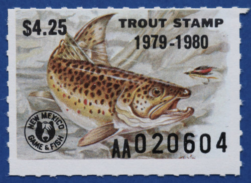 1979 New Mexico Trout Stamp (NMT22)