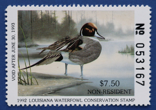 1992 Louisiana State Nonresident Duck Stamp (LA04A)