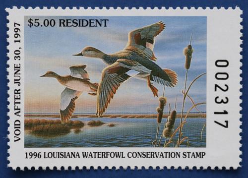 1996 Louisiana State Duck Stamp (LA08)