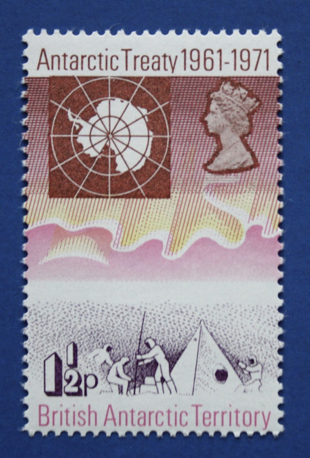 BAT (39-42) 1971 Antarctic Treaty 10th Anniversary singles set