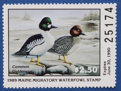 1989 Maine State Duck Stamp (ME06)