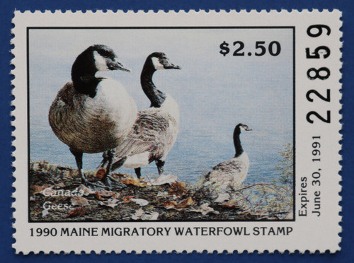 1990 Maine State Duck Stamp (ME07)