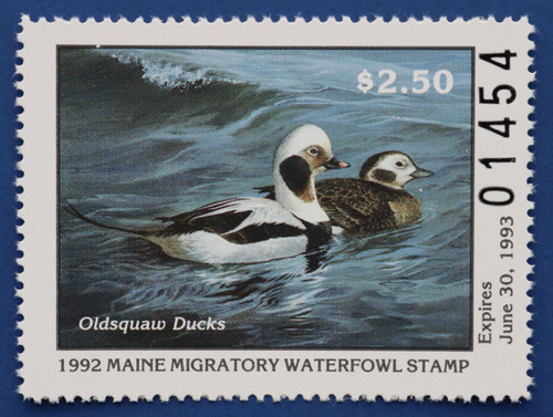 1992 Maine State Duck Stamp (ME09)