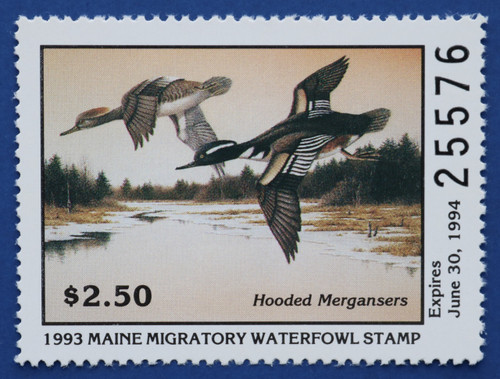 1993 Maine State Duck Stamp (ME10)