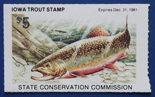 1981 Iowa Trout Stamp (IAT21)