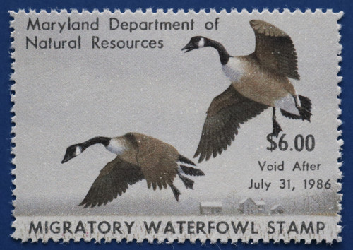 1985 Maryland Migratory Waterfowl Stamp (MD12)