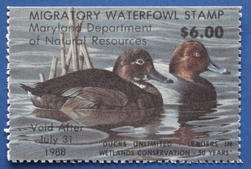1987 Maryland Migratory Waterfowl Stamp (MD14)