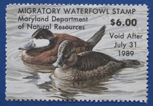 1988 Maryland Migratory Waterfowl Stamp (MD15)