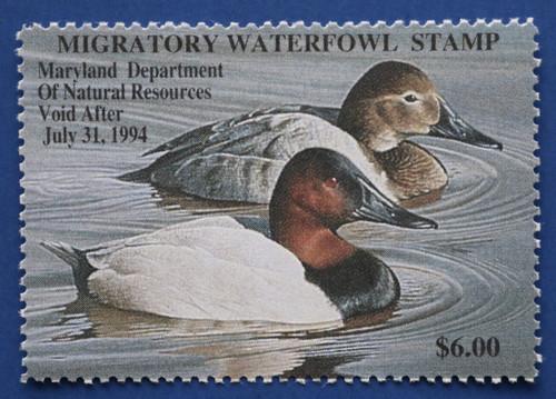 1993 Maryland Migratory Waterfowl Stamp (MDT20)