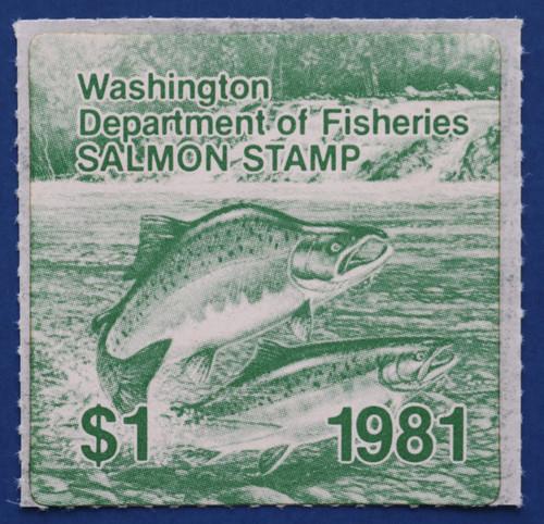 1981 Washington Salmon Stamp (WAS13)