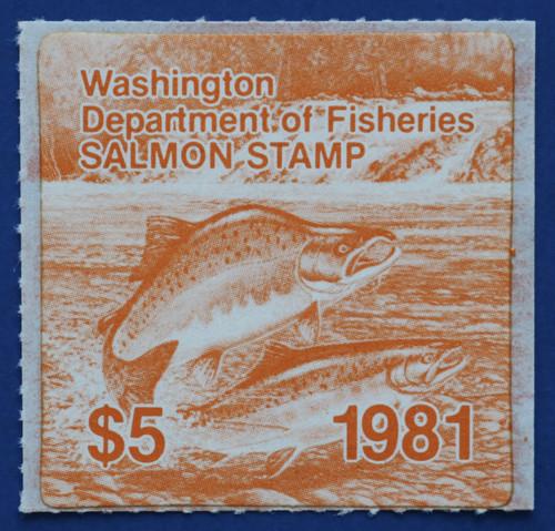 1981 Washington Salmon Stamp (WAS15)