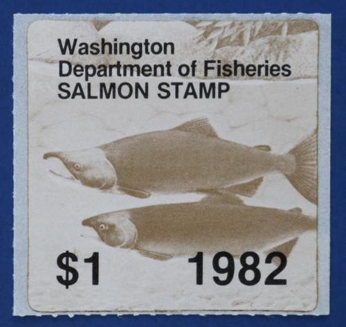 1982 Washington Salmon Stamp (WAS17)