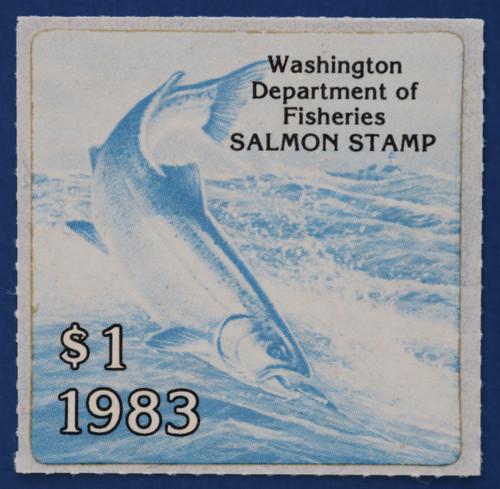 1983 Washington Salmon Stamp (WAS21)