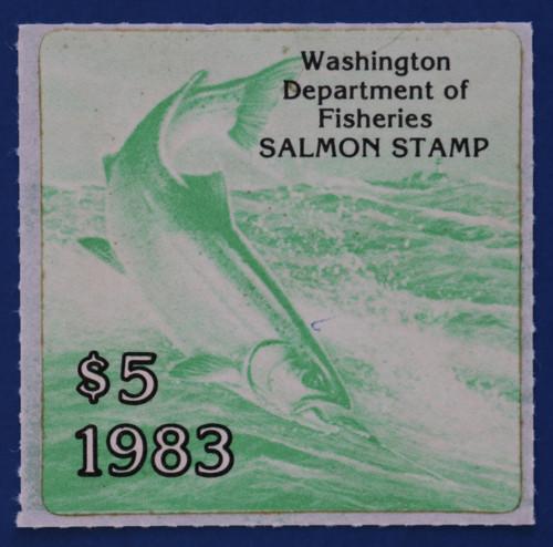 1983 Washington Salmon Stamp (WAS23)