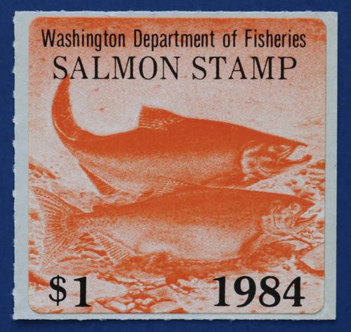 1984 Washington Salmon Stamp (WAS25)