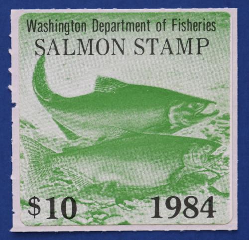 1984 Washington Salmon Stamp (WAS28)