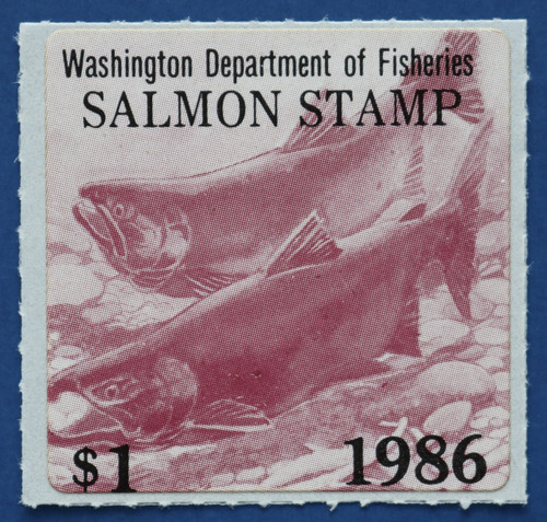1986 Washington Salmon Stamp (WAS33)