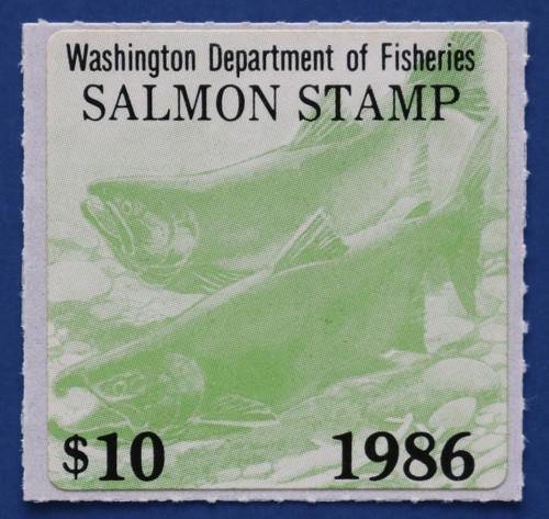 1986 Washington Salmon Stamp (WAS36)