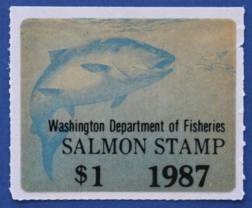 1987 Washington Salmon Stamp (WAS37)