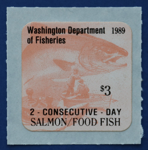1989 Washington Salmon Stamp (WAS44)