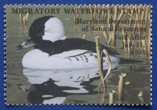 1992 Maryland Migratory Waterfowl Stamp (MD19)