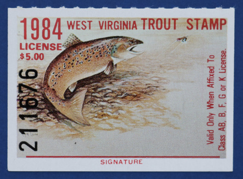 1984 West Virginia Trout Stamp (WVT25)