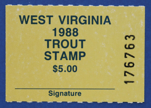 1988 West Virginia Trout Stamp (WVT29)