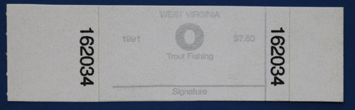 1991 West Virginia Trout Stamp (WVT32)