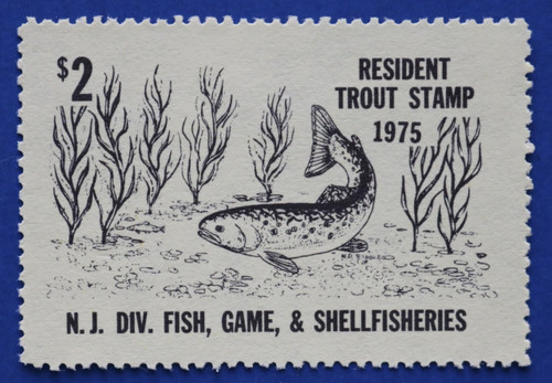 1975 New Jersey Trout Stamp (NJT45)