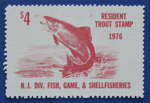 1976 New Jersey Trout Stamp (NJT47)