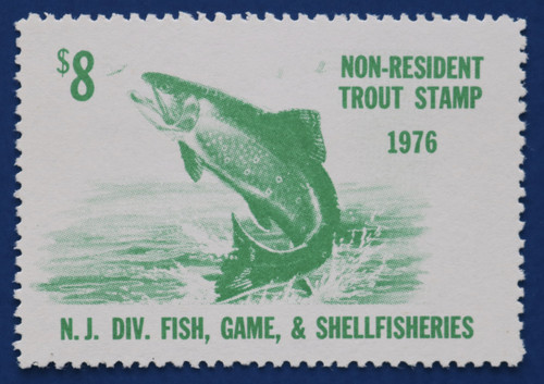1976 New Jersey Nonresident Trout Stamp (NJT48)