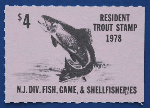 1978 New Jersey Trout Stamp (NJT51)