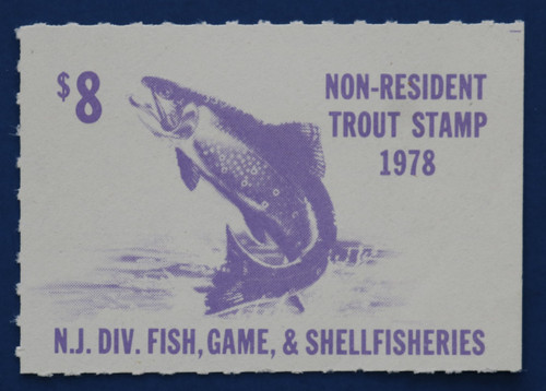 1978 New Jersey Nonresident Trout Stamp (NJT52)