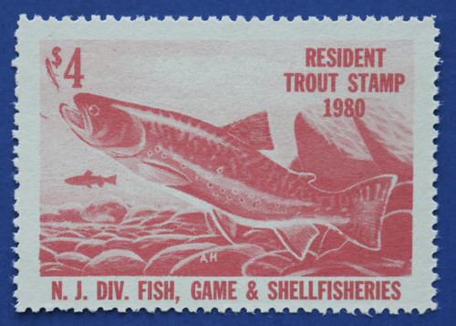 1980 New Jersey Trout Stamp (NJT55)