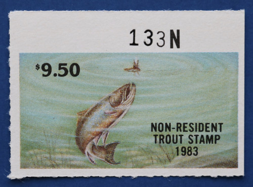 1983 New Jersey Nonresident Trout Stamp (NJT62)