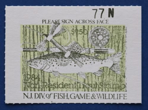 1984 New Jersey Nonresident Trout Stamp (NJT64)