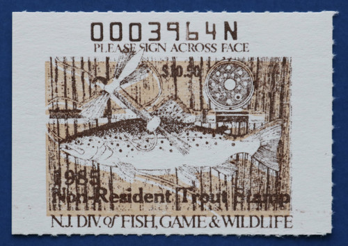 1985 New Jersey Nonresident Trout Stamp (NJT66)