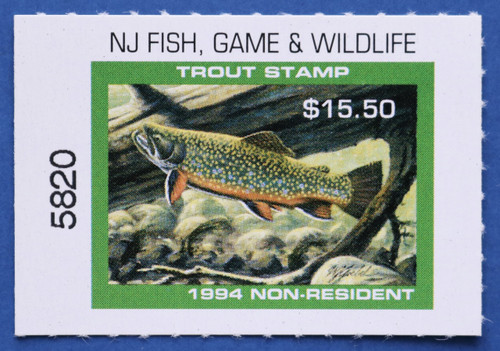 1994 New Jersey Nonresident Trout Stamp (NJT84)