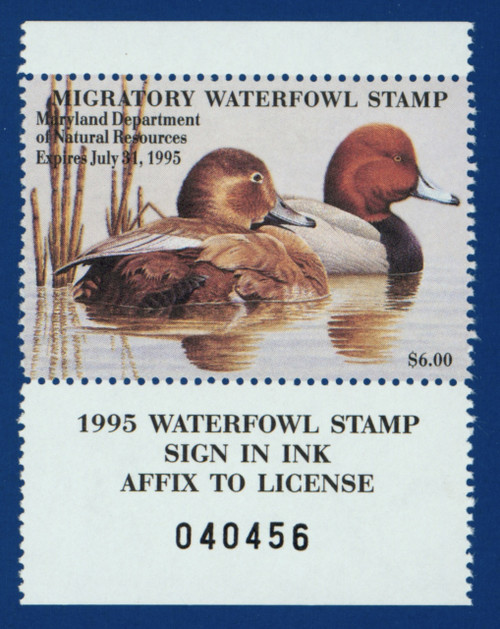 1994 Maryland Migratory Waterfowl Stamp with tab (MD21T)