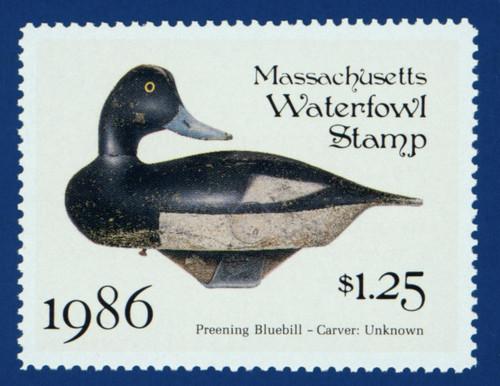 1986 Massachusetts Waterfowl Stamp (MA13)