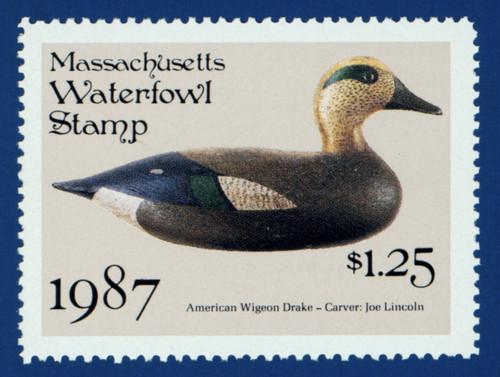 1987 Massachusetts Waterfowl Stamp (MA14)