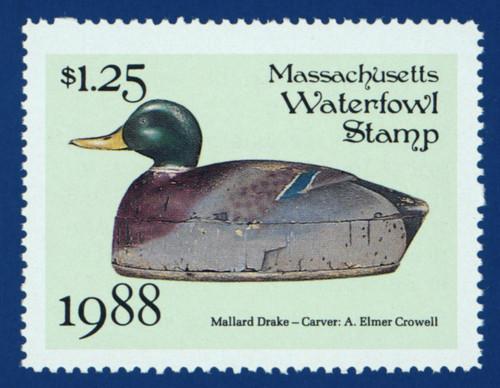 1988 Massachusetts Waterfowl Stamp (MA15)