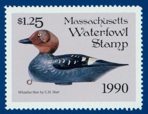 1990 Massachusetts Waterfowl Stamp (MA17)
