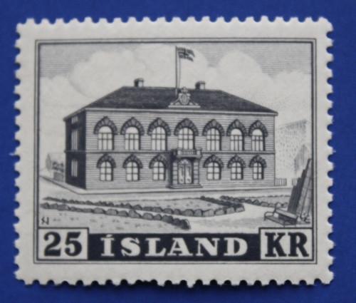Iceland (273) 1952 Parliament Building single
