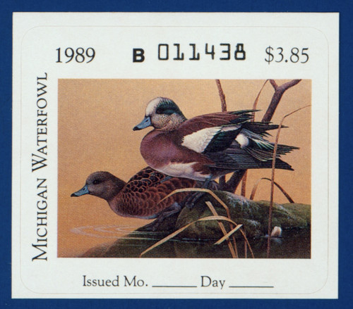 1989 Michigan Waterfowl Stamp (MI14)