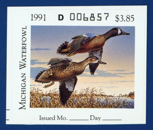 1991 Michigan Waterfowl Stamp (MI16)