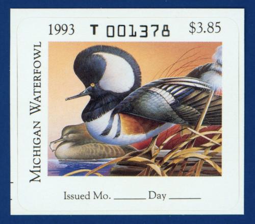 1993 Michigan Waterfowl Stamp (MI18)